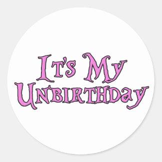 It's My Unbirthday Classic Round Sticker