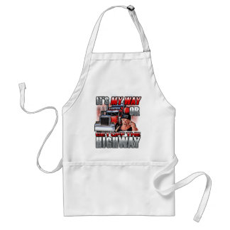 It's My Way or the Highway! Adult Apron