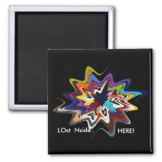 its n the eyes star-1 2 inch square magnet