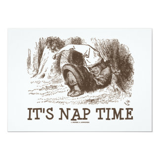 It's Nap Time Red King Sleeping Snoring Wonderland Card