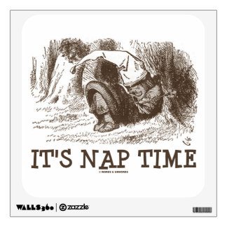 It's Nap Time Red King Sleeping Snoring Wonderland Wall Decal