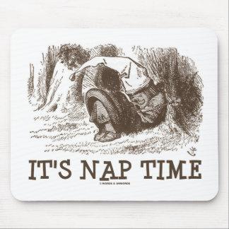 It's Nap Time Sleeping Snoring Red King Wonderland Mouse Pad