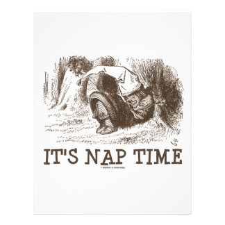 It's Nap Time (Wonderland Red King Snoring) Letterhead