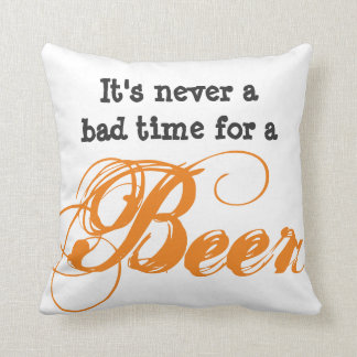 It's never a bad time for a Beer Throw Pillow