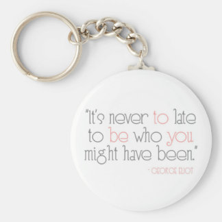 It's Never To Late To Be You Keychain