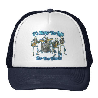 It's never too late for the blues trucker hats