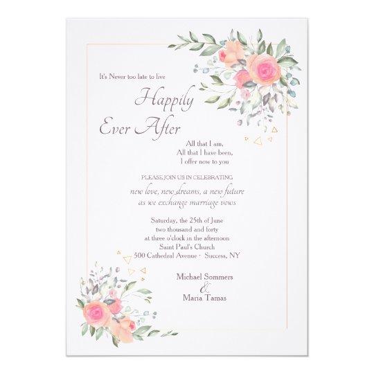2nd Wedding Invitation Wording: It's Never Too Late Second Wedding Invitation
