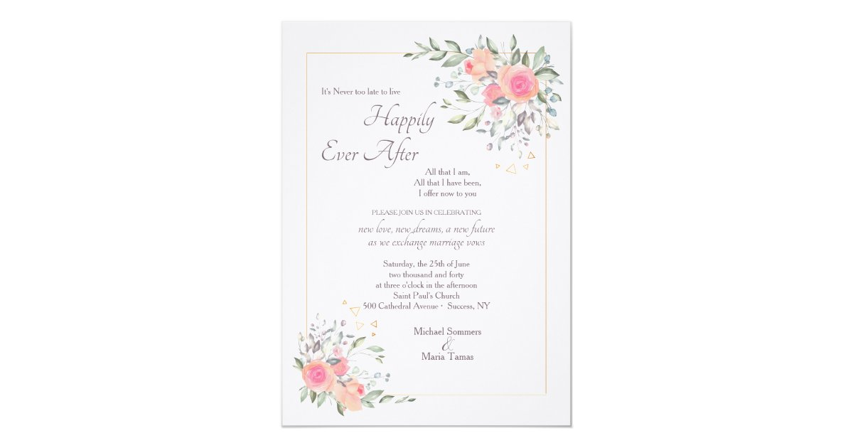2nd Marriage Wedding Invitations: It's Never Too Late Second Wedding Invitation