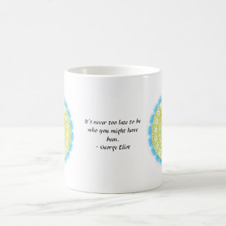 It's never too late to be who you might have been coffee mug