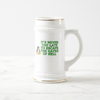 It's never too late to escape the Gates of hell Coffee Mugs