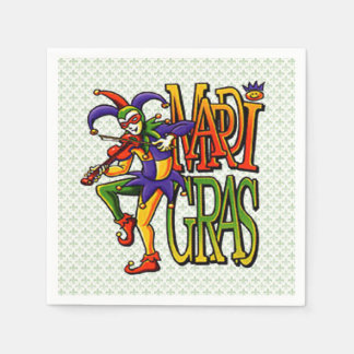 It's No Joke Mardi Gras Party Paper Napkins