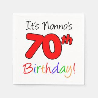 It's Nonno's 70th Birthday Fun Napkins