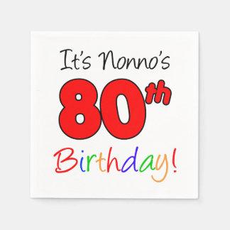 It's Nonno's 80th Birthday Napkins