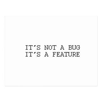 It's not a bug, funny design postcard