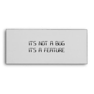 It's Not a Coding Bug It's a Programming Feature Envelope