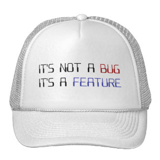 It's Not a Coding Bug It's a Programming Feature Trucker Hats