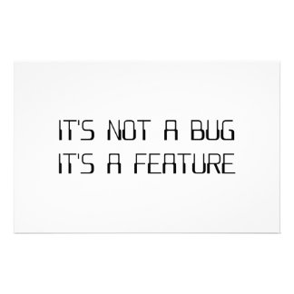 It's Not a Coding Bug It's a Programming Feature Stationery