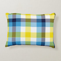 It's Not a Picnic without Rain Plaid Accent Pillow