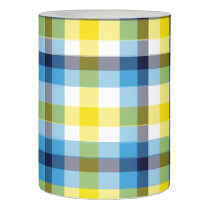 It's Not a Picnic without Rain Plaid Flameless Candle