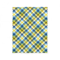 It's Not a Picnic without Rain Plaid Fleece Blanket