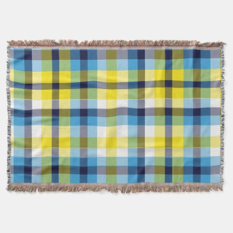 It's Not a Picnic Without Rain Plaid Throw Throw Blanket