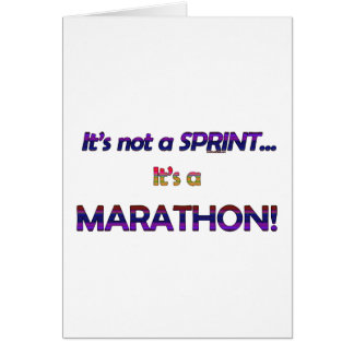 It's not a Sprint...2 Greeting Card