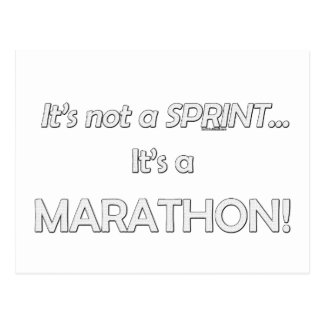 It's not a Sprint...3 Postcard