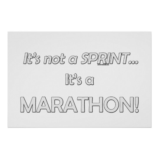 It's not a Sprint...3 Poster