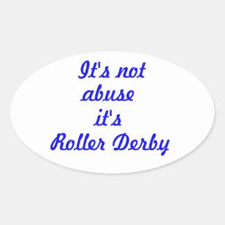 It's not abuse oval sticker