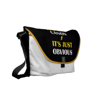 It's Not Canon - It's Just Obvious Bag White Messenger Bag