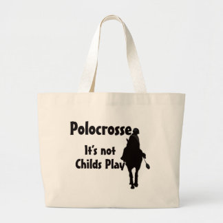 Its Not Childs Play Large Tote Bag