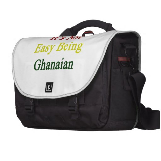 It's Not Easy Being Ghanaian Computer Bag