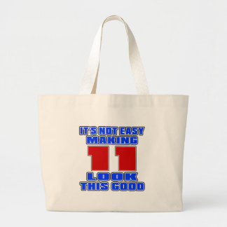 It's not easy making 11 look this good jumbo tote bag