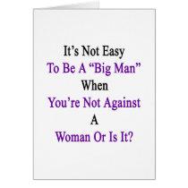 It's Not Easy To Be A Big Man When You're Not Agai