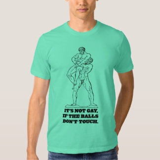 It's Not Gay If The Balls Don't Touch T Shirt