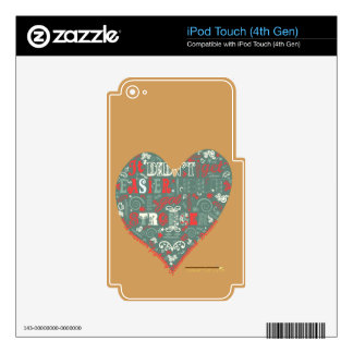 It's not getting easier, but you are strong. skin for iPod touch 4G