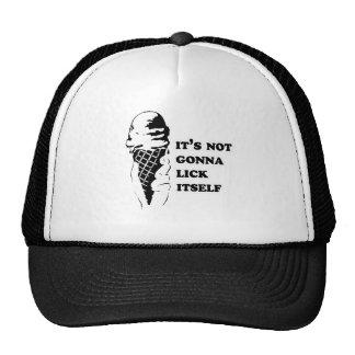 IT'S NOT GONNA LICK ITSELF TRUCKER HAT