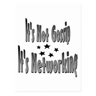 It's Not Gossip It's Newworking Postcard