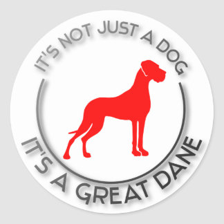 It's not just a dog classic round sticker