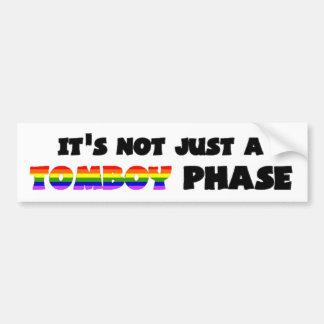 It's Not Just A Tomboy Phase! Car Bumper Sticker