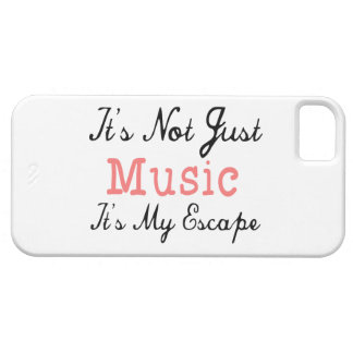 It's Not Just Music, It's My Escape - Quote iPhone SE/5/5s Case