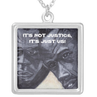 IT'S NOT JUSTICE negro art necklace