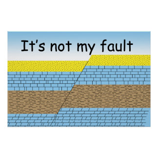 It's not my fault poster