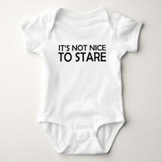 It's Not Nice to Stare Baby Bodysuit