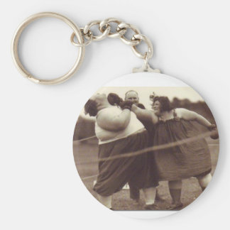 It's not over 'til the fat lady punches you! key chains