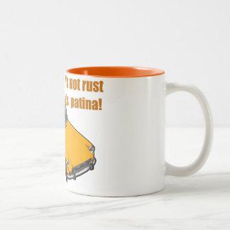 it's not rust, it's patina Two-Tone coffee mug