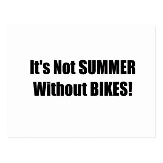 Its Not Summer Without Bikes Postcard
