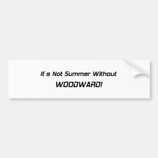 Its Not Summer Without Woodward Bumper Sticker