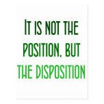 It's not the position, but the disposition postcard