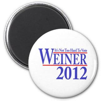 It's Not Too Hard To Vote Weiner 2012 2 Inch Round Magnet